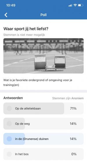 Afbeelding van poll in clubapp