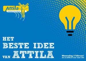 Het beste idee van Attila, op 5 februari 2020 in de kantine